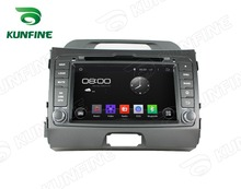 Quad Core 1024*600 Android 5.1 Car DVD GPS Navigation Player for SPORTAGE R2010-2012 Bluetooth 3G Wifi steering wheel control