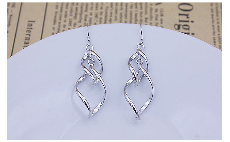 Promotion 925 sterling silver fashion flower ladies drop earrings jewelry female birthday gift drop shipping anti allergy in Drop Earrings from Jewelry Accessories