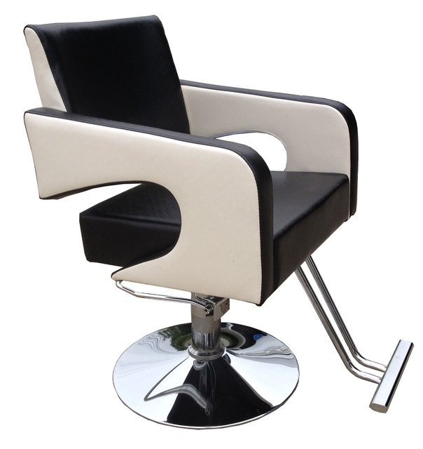 Salon haircut chair. Hair salons fashion black-and-white beauty-care chair. Stool. Rotating lifting 930 c