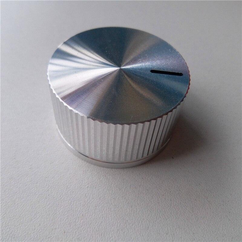 1pcs aluminum cap knob potentiometer knob 40*22*6mm Instrument instrument handle fine-tuning knob knob mirror vertical stripe kyp16 16 4j gray potentiometer knob cap hole 4mm