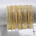 24 PCS/Set New Fashion Gold Color Crystal rhinestone Bracelet & Bangle Charm Luxury Love Anchors Heart Women Bracelet Gift 2016
