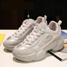 2019 The new Sell well simple fashionable womens shoes spring trend Mixed colors Thick sole sports casual Women Single