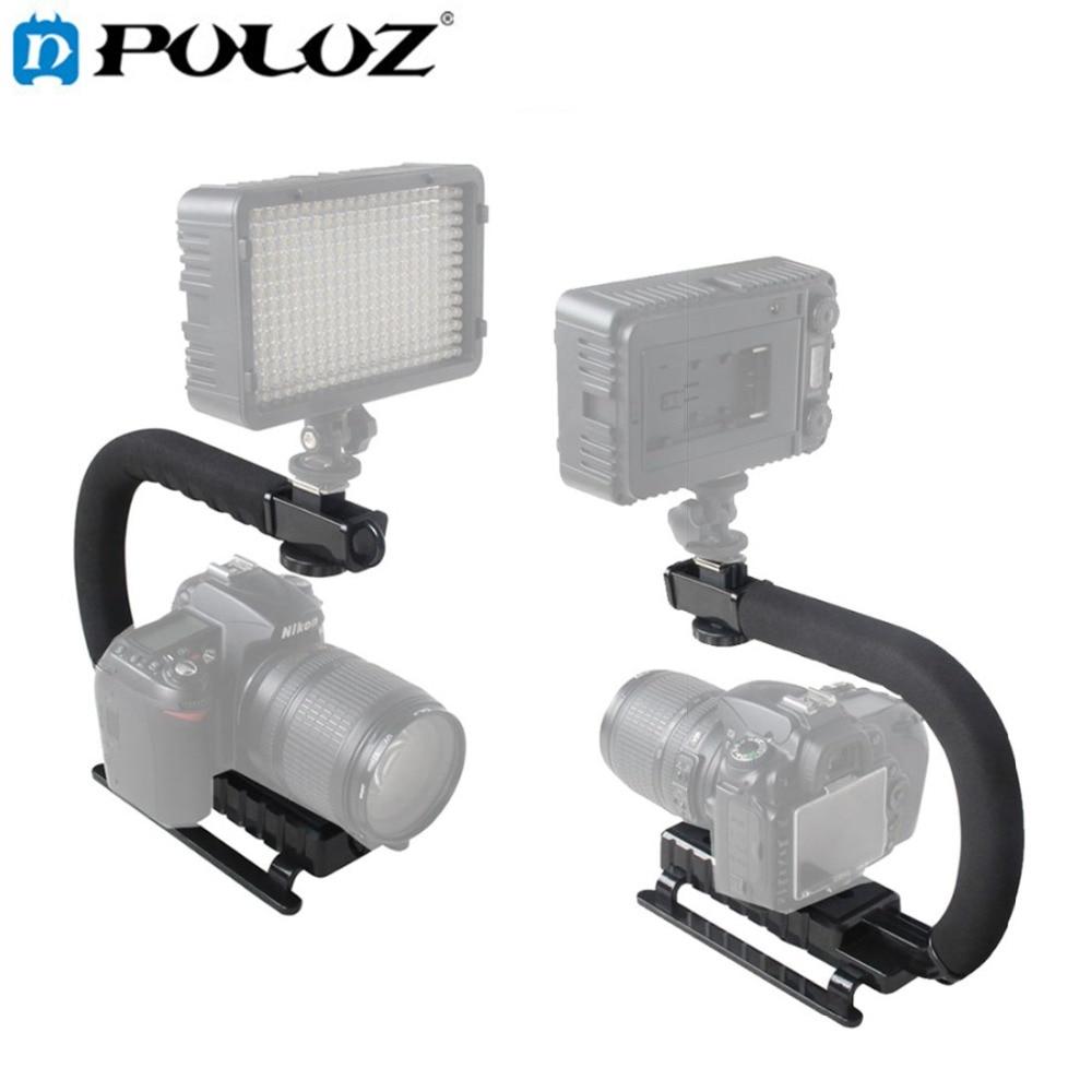 PULUZ for steadycam U-Grip Shoe Mount C-shaped Single Handgrip Camera Stabilizer for Steadicam SONY Canon Nikon DSLR Stabilizer
