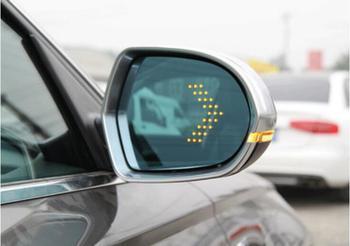 Para vw tiguan 2017-2018 aquecimento grande angular azul Multi-curvatura LED turno sinal seta lâmpada de calor para fora porta Espelho retrovisor