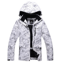 Outdoor sports ski suits men winter windproof waterproof breathable climbing jackets white lightning new free shippingS XXXL