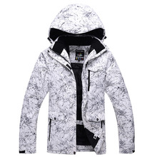 Ski-Suits Climbing-Jackets Waterproof Winter New White Outdoor Men Breathable Lightning