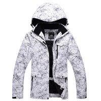 Ubiory narciarskie mężczyźni zima wiatroszczelna, wodoodporna, oddychająca boisko sportowe kurtki wspinaczkowe biała błyskawica nowe darmowe shippingS-XXXL