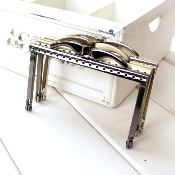 Free Shipping/10cm Bronze/Silver/Gun Square Metal Purse Frame with ...