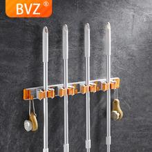 BVZ organizer do kuchni półka naścienna uchwyt do przechowywania Mop szczotka mopy wieszak na zakupy uchwyt na mopa z hakiem organizer łazienkowy tanie tanio Przechowywanie posiadaczy i stojaki Aluminium Typ ścienny Pojedyncze Nie-składany stojak TOOLS Ekologiczne m-tbjlv-1-yin-4m m-tbjlv-2-yin-4m
