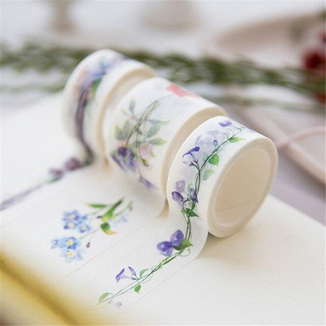 1 piezas lindo Kawaii flores de dibujos animados cinta adhesiva de Washi cinta adhesiva decorativa decoración Diy Scrapbooking etiqueta engomada