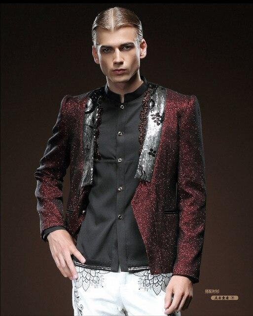 Бесплатная Доставка мужская мужской моды 2015 мужчин осень зима небольшой однобортный костюм с длинными рукавами куртка 510037 воротник на заказ