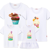 Family matching clothes look mother daughter dresses new family clothing daddy son mom and daughter dress sister brother t shirt
