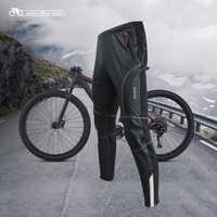 Santic Men Cycling Pants Windproof Keep Warm Anti-pilling Two Fabrics Winter MTB Warm Trouser ROBERT KP6201