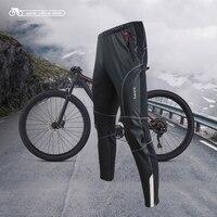 Santic męskie spodenki na rower wiatroodporny utrzymuj ciepło anti pilling Winter MTB Warm Trouser w Spodnie rowerowe od Sport i rozrywka na