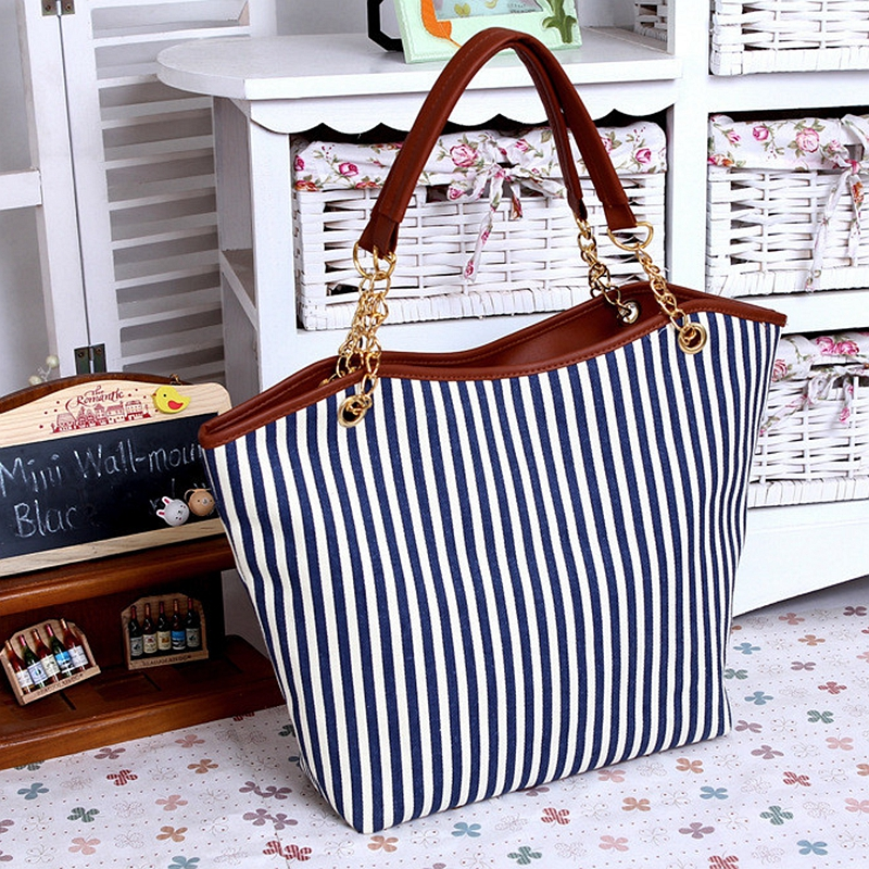 ABDB <font><b>2018</b></font> New Striped Canvas Handbag <font><b>Women</b></font> <font><b>Shoulder</b></font> <font><b>Bags</b></font> Beach <font><b>Bag</b></font> Fashion Zipper Tassel <font><b>Women</b></font> Handbag <font><b>Big</b></font> Tote <font><b>Bag</b></font> image
