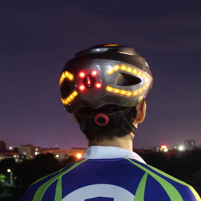 2019 Unisex 57 62cm bike helmet Cycling light Smart casco MTB Helmet Mountain Bike Accessory USB