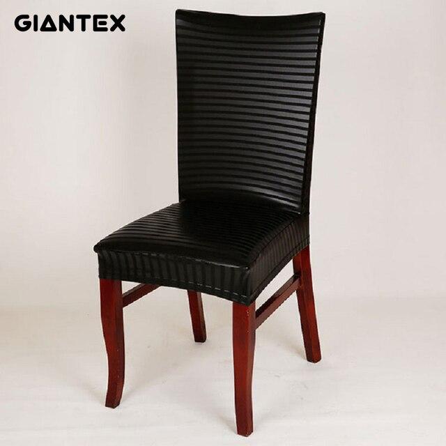 Fundas elásticas de cuero PU para silla de comedor moderna para cocina  pokrowce na krazesla funda silla housse de chaise stoelhoezen eetkamer