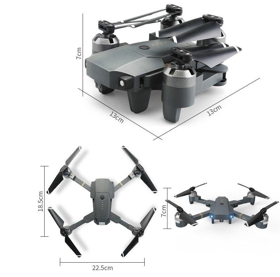 Nuovo Pieghevole RC Drone Con 30 w WIFI Della Macchina Fotografica 2.4G 4CH-Axis RC Elicottero in Tempo Reale Quadcopter RTF Drone