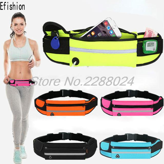 Waist Belt Pouch Phone screen protection Case Cover Running Jogging Bag For DEXP Ixion X LTE 4.5 Mlais M7 Effire A7