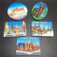5pcs/set Thailand Handmade 3D Fridge Magnets Travel Souvenirs Refrigerator Magnetic Stickers Home Decor