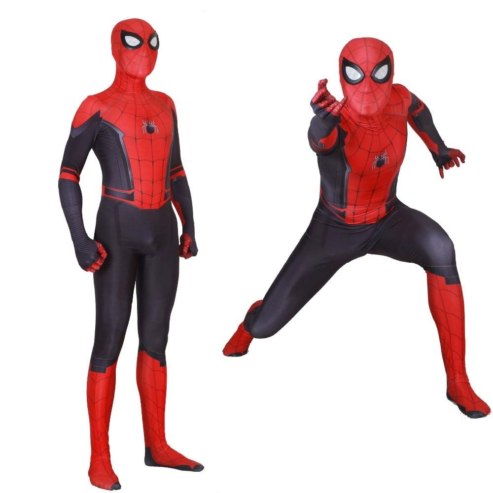 Adult Super Hero Spider Man Costume Zentai Spiderman Peter Parker Cosplay for Halloween Superhero Party Bodysuit