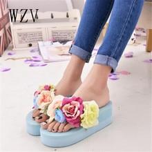 WZV Nouvelles femmes pantoufles sandales sandales compensées pantoufles vogue passer l'été plate-forme chaussures pantoufles en plein air épais femmes chaussures d470