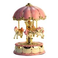 Gifts Desktop Mechanism Valentine's Day Craft Umbrella Carousel Exquisite Romantic LED Light Music Box Birthday Clockwork Horse