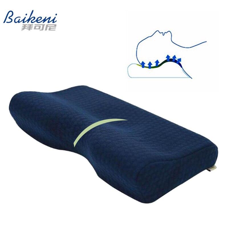 Carbone di Legna di bambù di Ventilazione Tessuto del Collo Cuscino di Gomma Piuma di Memoria Cuscino Cervicale Cuscino di Massaggio Cuscino Ortopedico Cuscini per Dormire