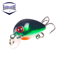 Купить с кэшбэком Mini Crankbait Fishing Lures 3cm 1.5g Artificial Hard Crank Bait Topwater Quality Plastic Wobblers Japan Peche Fishing Tackle