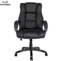 Homdox Boss Swivel Chairs Ergonomic PU Leather High Back Office Chair With Armrests N40