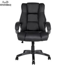 Homdox Boss Swivel Chairs Ergonomic PU Leather High Back Office Chair with Armrests N40*(China)