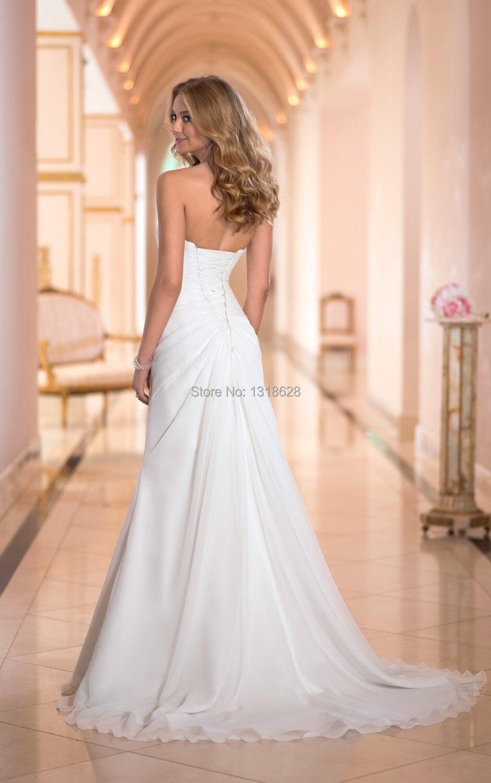 Abiti Da Sposa Tumblr.Vestido De Noiva 2015 New Arrive White Ivory Chiffon Fashionable