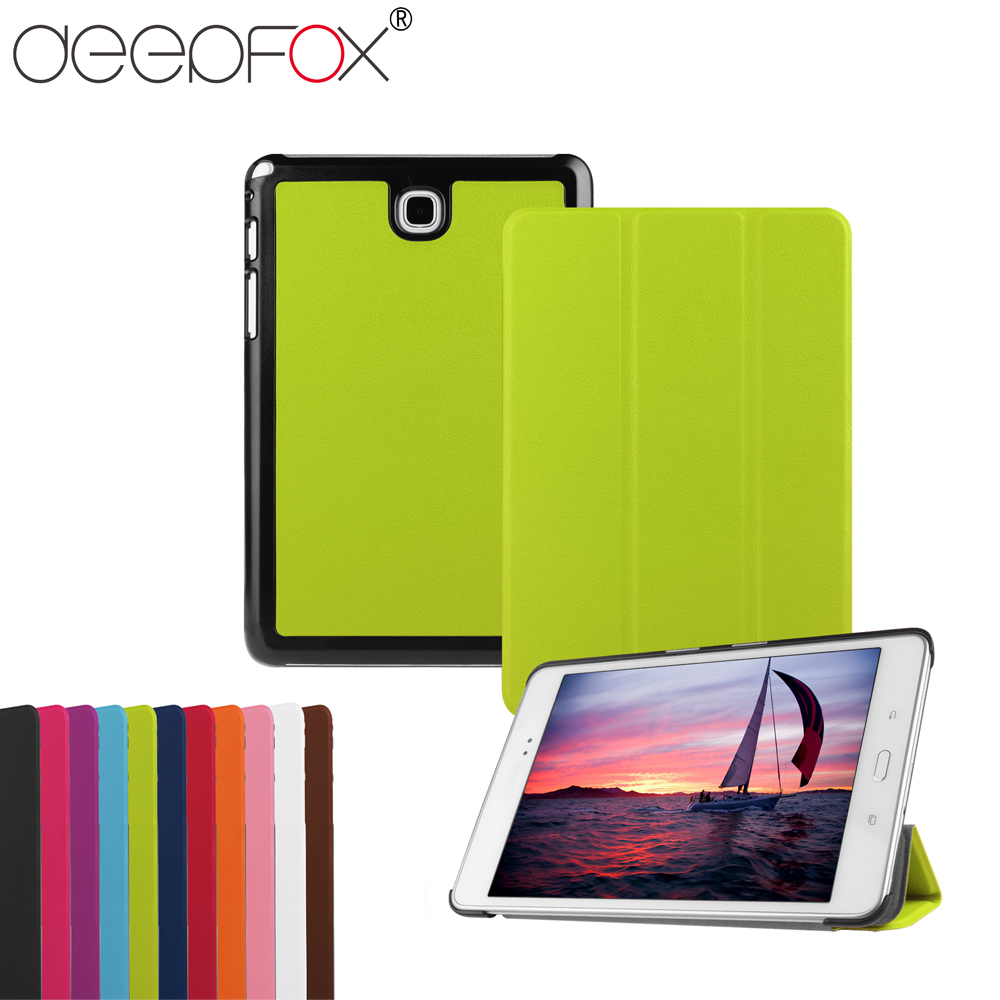 DeepFox Stand PU Leather Smart Cover Case For Samsung Galaxy Tab A 8.0 SM-T350 T355 P350 P355 Tablet Case