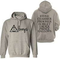 2015 Mens Hoodies Deathly Hallows Logo Custom Casual Men S Crewneck Sweatshirts Graphic S 3XLPlus Sizes