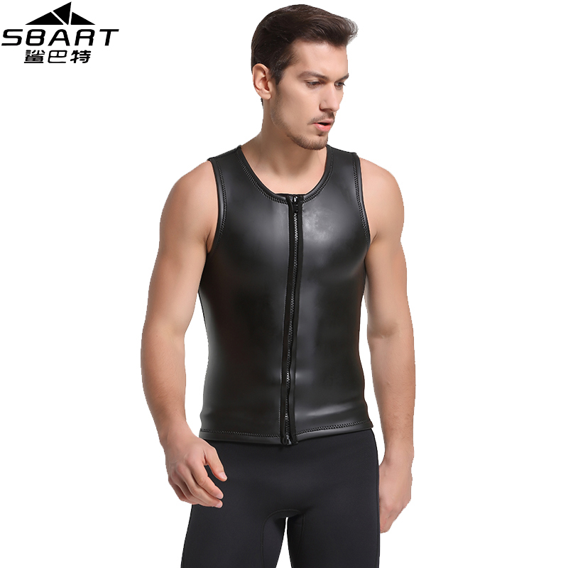 SBART New 2MM Neoprene Wetsuit Vest Sleeveless Sun Protection Smoothskin Wetsuit Surf Shirt For Men Surfing Diving Suit Jacket J