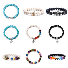 Hot Women Acrylic Bracelets Crown Beads Men Bracelet Black Bracelet Multicolor Handmade Casual Jewelry(China)