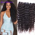 Ali Moda Malaysian Virgin Hair 3 bundles Malaysian Kinky Curly Virgin Hair #1B Cheap Malaysian Deep Wave Curly Weave Human Hair