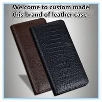 TZ15 Magnet genuine leather flip cover for Meizu MX6(5.5') phone case for Meizu MX6 flip case free shipping