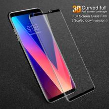 For LG V30 Glass Screen Protector iMAK 3D Full curved Tempered Protective Film V30+ Glas