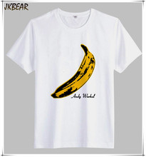 American Rock and Roll Band The Velvet Underground Banana O Neck Short Sleeve Cotton T Shirts Plus Size Pop Art Tee S-3XL