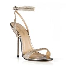 купить Now Women Sandals Sexy Party Big Sizes High Heels Glitter Ankle Strap Buckle Open Toe Thin Iron Heel Lady Heeled Shoes 3845-i4 по цене 1348.22 рублей