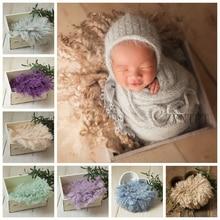 Новое Детское шерстяное одеяло для фотосессии для новорожденных; реквизит для фотосессии; Корзина с наполнителем; аксессуары для фотосессии