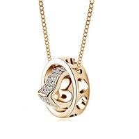 Cnaniya marka 6 kolor kryształ grono serce breloczka łańcuchu naszyjnik collier kobiety collares y colgantes ketting mody 2016 wieszak