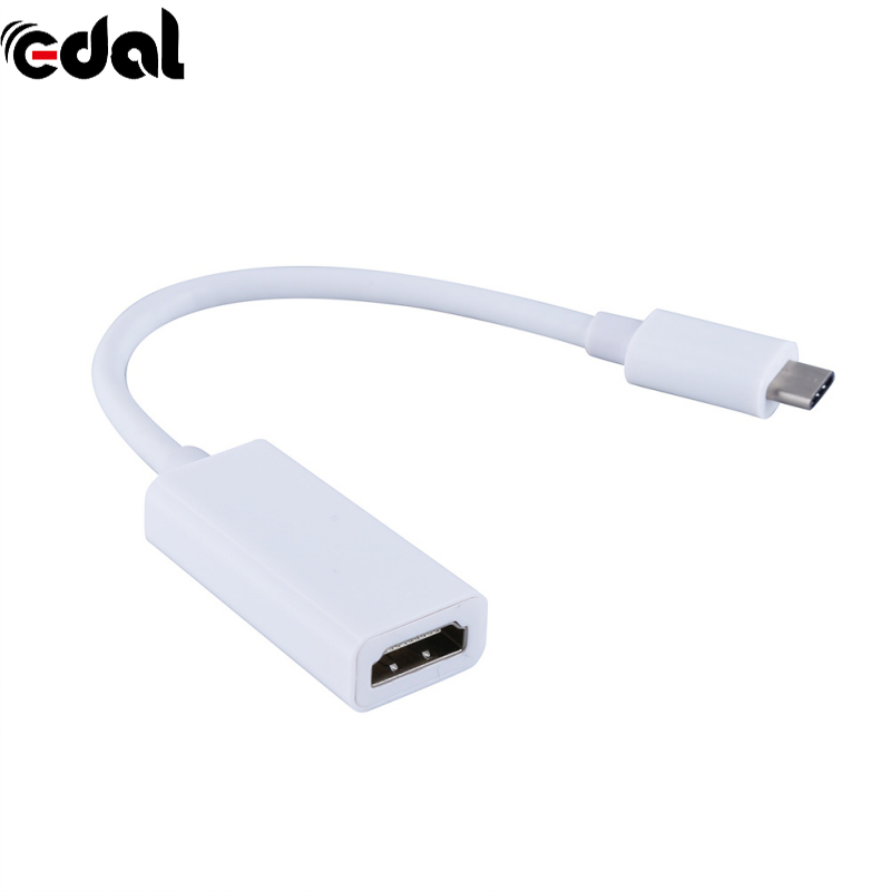 EDAL Type C 3.1 à HDM USB 3.1 Femelle Adaptateur Soutien 1080 P pour Macbook Google Chromebook Pixel USB-C Type-c HDMI