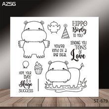 Happy hippo Transparent Silicone Clear Stamps/seal for DIY Scrapbooking/Card Making/Photo Album Decoration Supplies ferrero kinder happy hippo 10