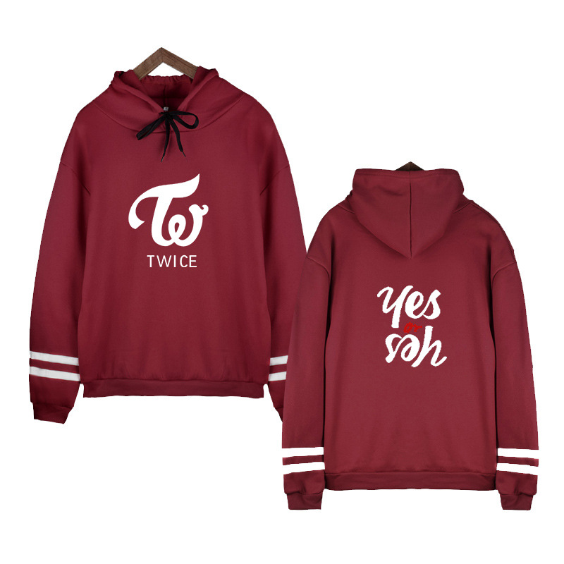 TWICE Sweatshirt Hoodie Kpop Clothes Women Hoodies Cotton Casual Pullovers Hooded Men Winter Jacket Harajuku Korean Version