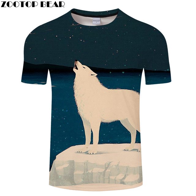 a2719af57ad6 Animal tshirt Men t shirt 3d t-shirt Wolf Tee Space Top Anime Camiseta  Streatwear Short Sleeve Camiseta 2018 DropShip ZOOTOPBEAR