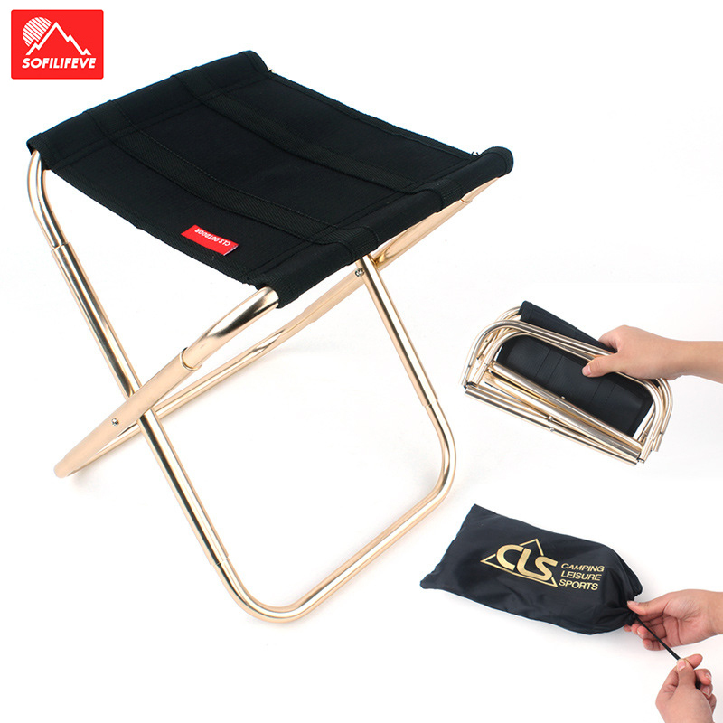 Portable Folding Chair For Fishing Outdoor Foldable Small Stool Light Weight Camping Chairs Metal Bracket Picnic Fishing Chair Fishing Chairs Aliexpress