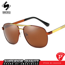 New fashion SMN brand 2017 titanium iron square vintage retro Men's sun glasses polarized resin lenses Sports, driving, Outing