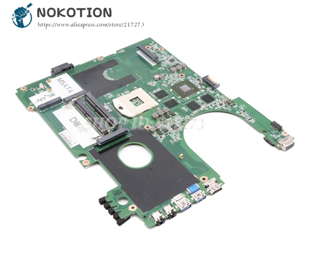 NOKOTION For Dell Inspiron 17R 7720 Laptop Motherboard DA0R09MB6H1 CN-072P0M 072P0M DDR3 GT650M Discrete graphics крепление для жк дисплея ноутбука dell inspiron 17r 5720 7720 r